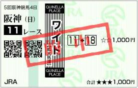 的中馬券101212-2(阪神JF)