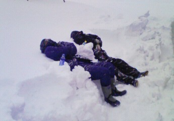雪かき休憩