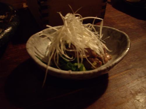 砂肝葱和え