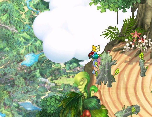木の上からw