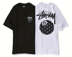 Stussy x mastermind JAPAN 8 Ball Skull Tee