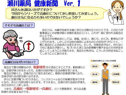 瀬川薬局 健康新聞 Vol.1-1