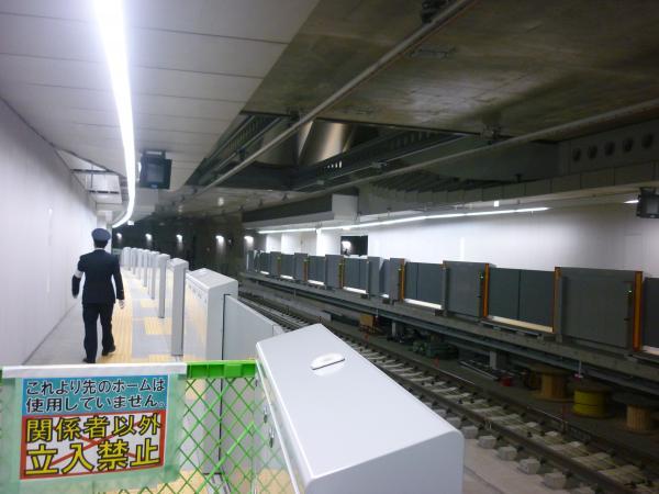 副都心線渋谷駅 工事状況2