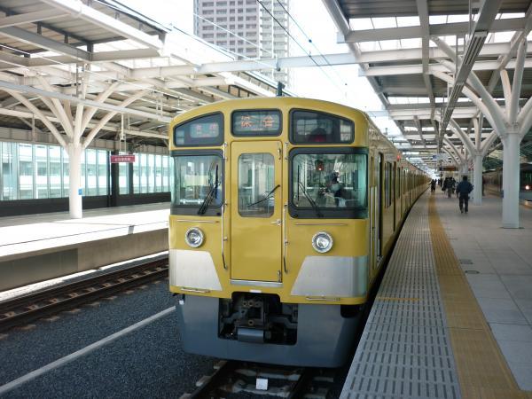 西武2097F 各停保谷行き 石神井公園 2013‐02‐24