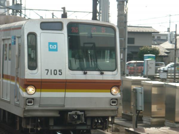 メトロ7105F 快速渋谷行き2 2013-01-26