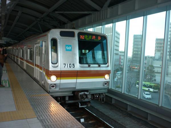メトロ7105F 快速渋谷行き3 2013-01-26
