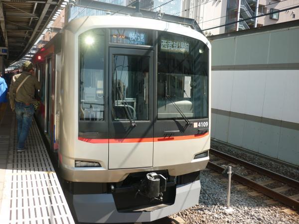 東急4109F 快速西武球場前行き 2013-03-16