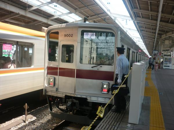 東武9102F 普通川越市行き 2012-05-27