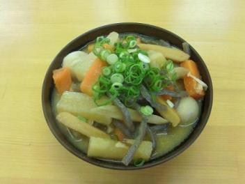 のぶや・田舎味噌しっぽく小・アレヌキ450円 with r~さん