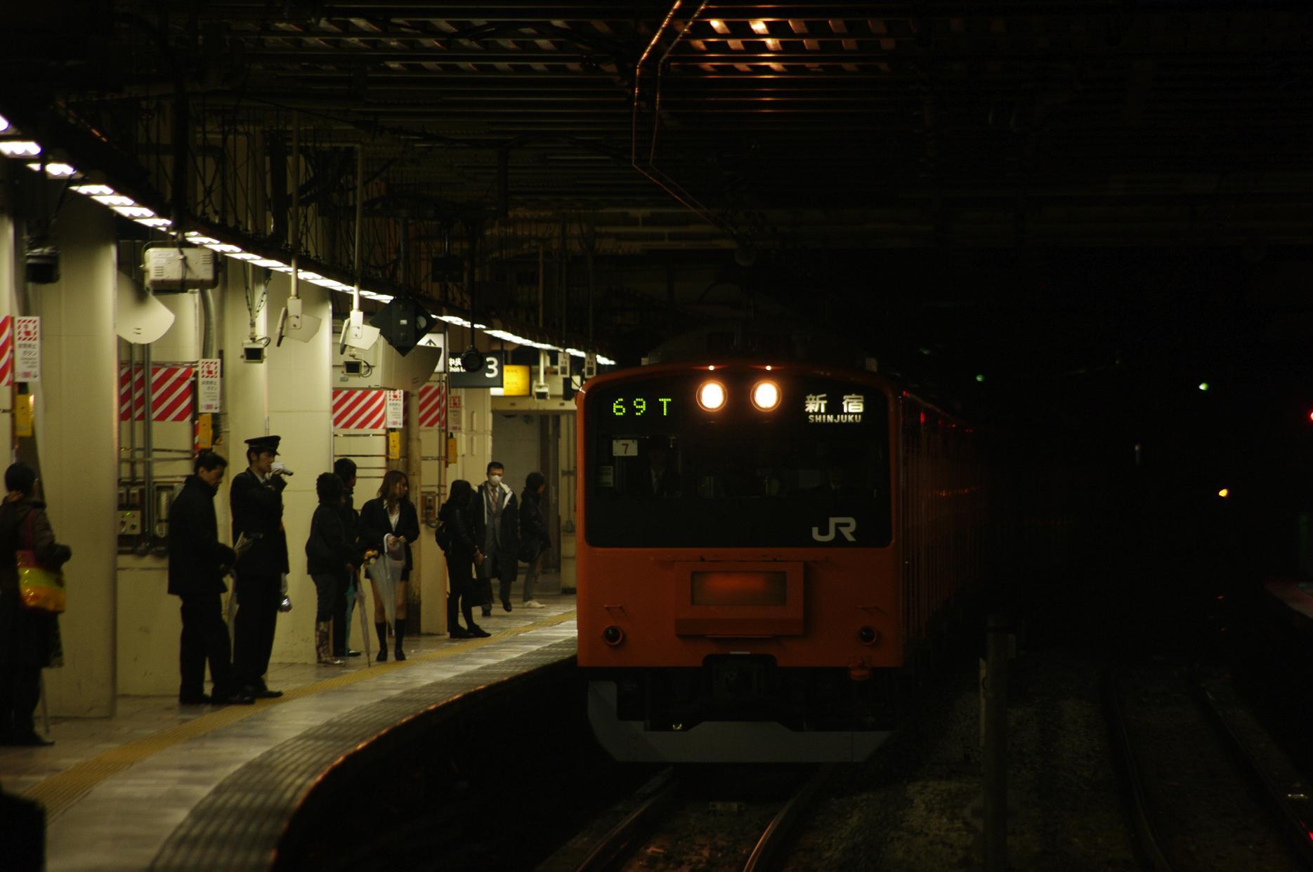 新宿行き、立川にて