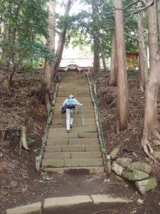 長い階段もこれで最後