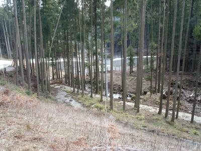 建設中の砂防ダム