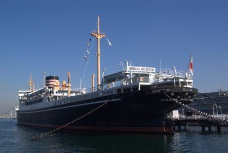 日本郵船氷川丸。