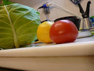 キッチンのトマト