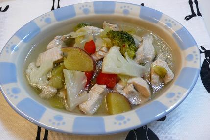 鶏胸肉のスープ煮