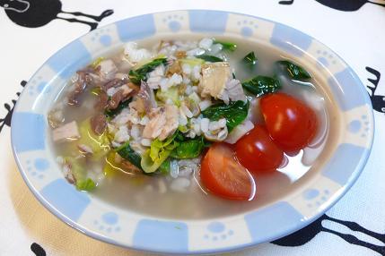 なまり節とター菜の雑炊