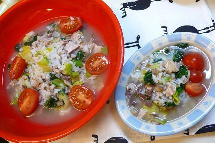 なまり節とター菜の雑炊(アニジュデ)