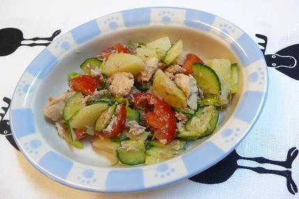サバ缶のポテトサラダ