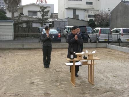 地鎮祭(社内)①