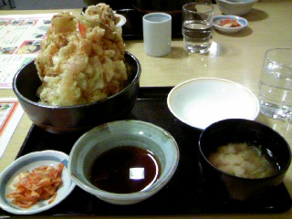 南幌温泉名物・キャベツ天丼