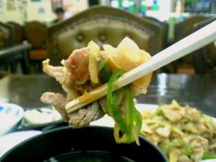 中華一番 生姜焼き定食004