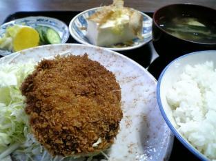 山田ホームレストラン本日の定食Bコロッケ004