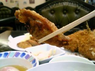 中華一番で鶏皮揚げ餃子004