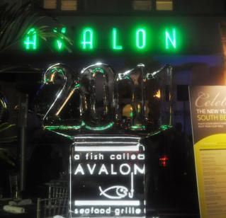 Avalon hotel 氷彫刻
