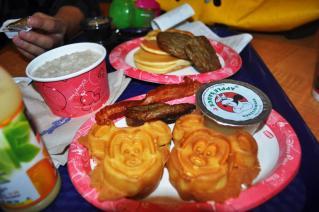 Mickey Face waffle
