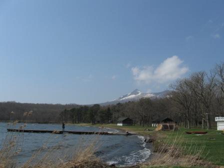 キャンプ場から見える駒ケ岳