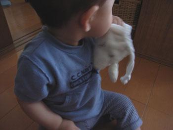20110614ひつじ巾着とharu5