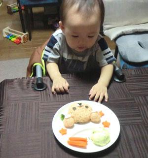 20110801誕生日離乳食とharu