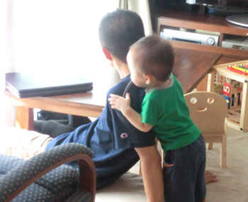 20110905とーちゃんとharu1