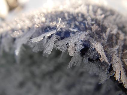 ドアミラー氷