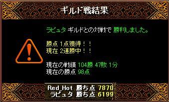RedStone 11.06.27gv 結果