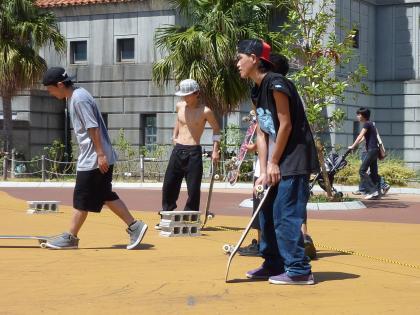 スケート開始