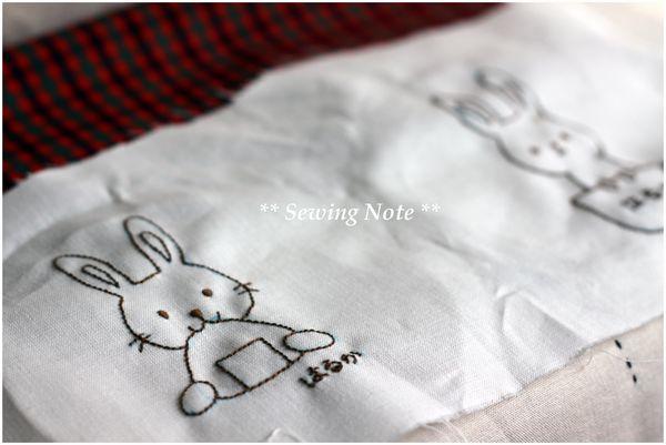 うさちゃん刺繍