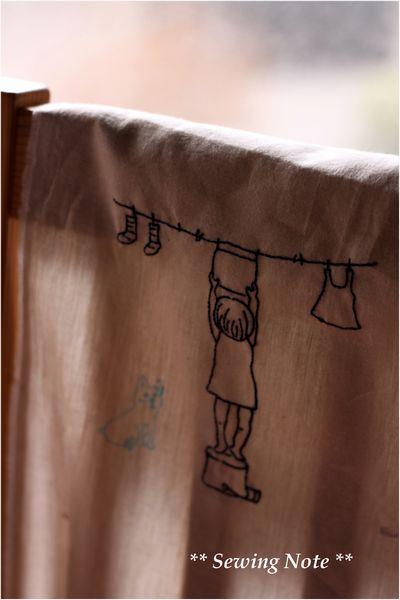 洗濯 刺繍