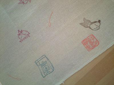 ボクスキ布巾のアップ