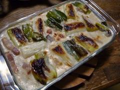 下仁田葱と牡蠣のグラタン