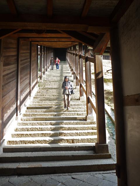 石畳の階段です