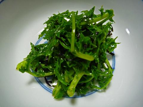わさび菜の海苔和え