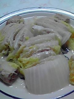 白菜と豚肉の挟み蒸し