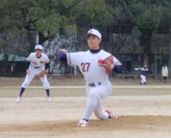 P2170087西本投手と稲葉遊撃手
