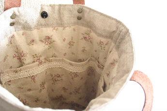 リネン編み込みバッグ