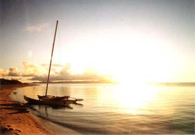 コンドイビーチの夕焼け