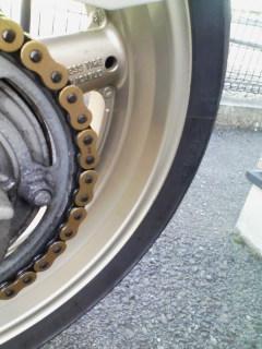 洗車後リアホイール