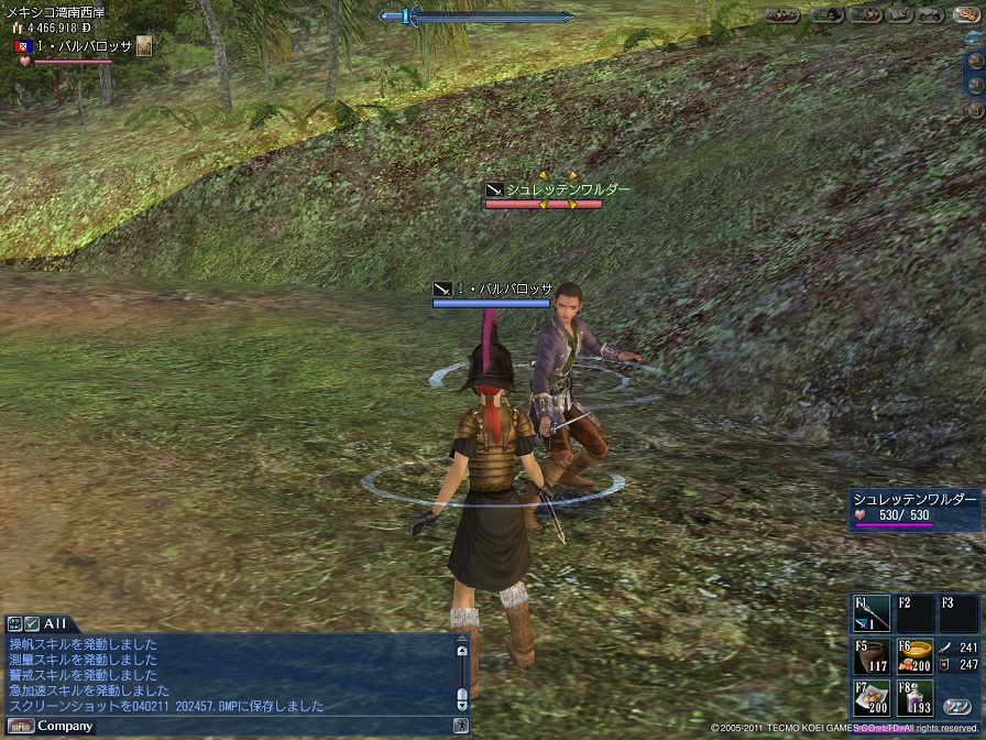 オカシラとの戦闘
