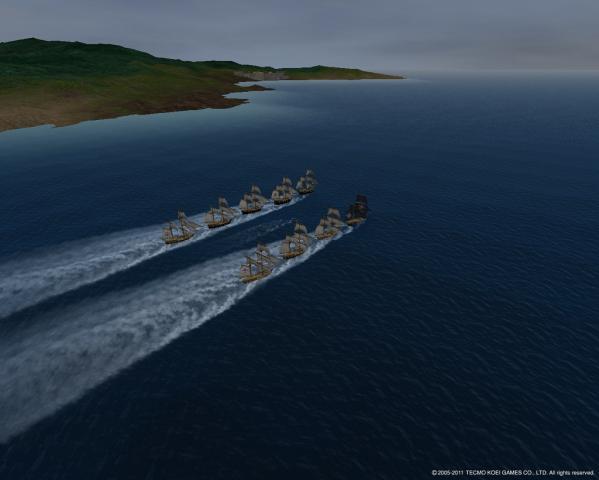 小型艦隊出動