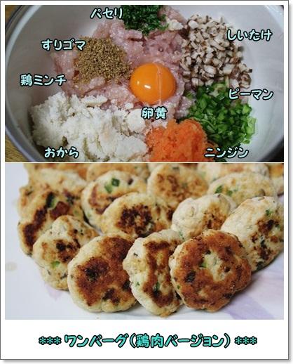 ワンバーグ鶏肉バージョン★